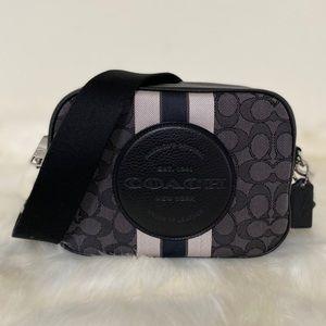 New💃Coach Dempsey Camera Bag Signature Jacquard